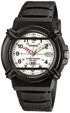 Casio Uomo 100m wr BLACK Sports Data Display Analogico Watch * HDA-600B-7BV - NUOVO