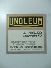 Linoleum. Il miglior pavimento. Societa' del linoleum. Pieghevole pubblicitario