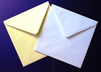 "155mm square 6x6"" Diamond Flap Gummed Envelopes For Wedding Invitations Craft"