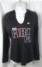 Adidas - NWT Women's MLS Chicago Fire Dark Gray Pullover Hoodie - Size: Medium