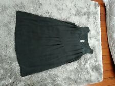 The White Company charcoal grey silk dress size 16