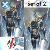 🔥 X-MEN #6 LUCIO PARRILO EXCLUSIVE SET OF 2 Ltd To 600 COA NM Magik