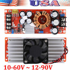1500W DC-DC Boost Converter 10-60V ~ 12-90V Step-Up Power Supply Module 30A