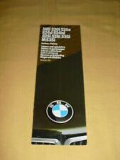 BMW 518i 520i 525e 524d... Farben/Polster Brochure 9 pages  Modelljahr 1987