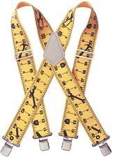 Custom LeatherCraft 110RUL Heavy Duty Tape Rule Elastic Suspenders, Ruler Print
