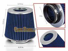 "3"" Cold Air Intake Filter Universal BLUE For B2200/B2300/B2500/B2600/B3000/B4000"