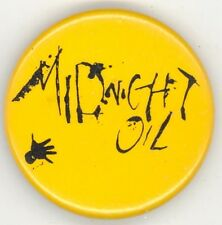 Midnight Oil Original 1987 1988 Diesel And Dust World Tour Stickback Button Pin