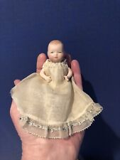 """Antique Reproduction 3 3/4"""" Grace Putnam Bye Lo All Bisque Baby Doll"""