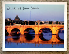 Christo and Jeanne Claude Pont Neuf offset  36,5 x 28,5 cm hand signed