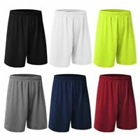S-4XL Mens Quick-Dry Loose Basketball Shorts Sports Short Pant Gym Half Trousers