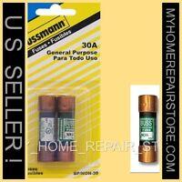 FREE S&H! 2 PACK! COOPER BUSS MANN NON 30 AMP 25O VOLT CARTRIDGE FUSE  BP/NON-30