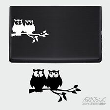 Verliebte Eulen Aufkleber Laptop Sticker Notebook Tattoo