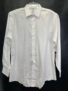 Brooks Brother Regent Mens Sz 18  White Non-Iron Dress Shirt NWTs(D85)
