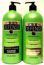 Daily Defense GREEN APPLE & GRAPE SEED OIL Moisturizing Shampoo & Conditioner