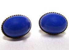SoHo® Ohrstecker vintage 1960´s Glas enzian handgemachte böhmisches Glas blau