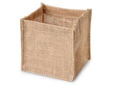 """1 Unit Natural Small Burlap Basket 5x5x5"""" 100% Jute Unit pack 12"""
