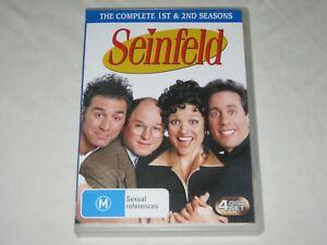 Seinfeld - Complete Season 1 & 2 - 4 Disc Set - Region 4 - VGC - DVD