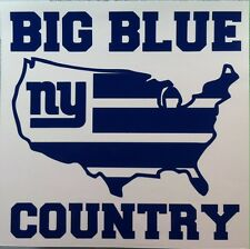 BIG BLUE COUNTRY Giants vinyl decal