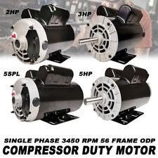 532hp 5 Spl 1ph 3450 Rpm Pro Electric Compressor Duty Motor 56 Frame Odp
