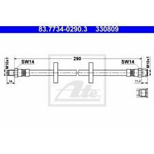 ATE Original Bremsschlauch, Bremsleitung Audi, VW 83.7734-0290.3