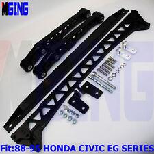 Rear Lower Control Arm Subframe Brace Tie Bar For 88-95 Honda Civic EG E7 BK