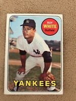 1969 Topps Roy White Card NM  YANKEES