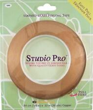 """STUDIO PRO STAINED GLASS 1/4"""" COPPER FOIL IN DISPENSER PACK ROLL"""