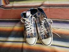 Men's Vintage Converse All Star Chuck Taylor Plaid Hi Top Basketball Shoes 9 1/2