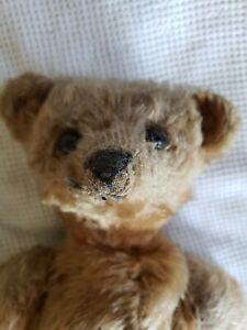 "Antique 15"" Light Brown Stuffed Teddy Bear Jointed"