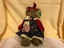 """The Bearington Collection 2004 Betsy and Ross 14"""" Jointed Plush Patriotic Bears"""