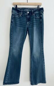 American Eagle Outfitters Size 10 Boot Cut Medium Wash Stretch Denim Jeans