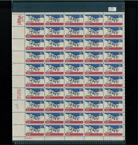 1974 United States Air Mail Postage Stamp #C88 Plate No 34851 Mint Full Sheet