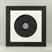 Christina Perri A Thousand Years - Framed Song Lyrics / First dance / anniversar