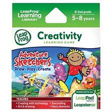 LeapFrog Leapster LeapPad Creativity Learning Game Cartridge Adventure Sketcher