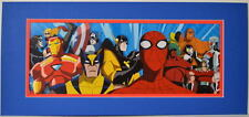 Marvel's GREATEST ANIMATED / CARTOON HEROES PRINT PROFESSIONALLY MATTED