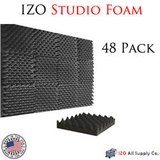 "48 Pk Acoustic Panels Egg Studio Soundproofing Foam Wedge tiles 2.5""x12""x12"""