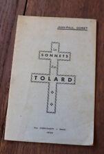 1945 Sonnets d'un Tolard Goret Auxois Seconde guerre Tolards Auxois Hauteville