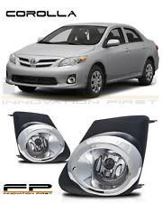 2011 2012 2013 Toyota Corolla Fog Lights Clear Front Driving Lamps Complete Kit