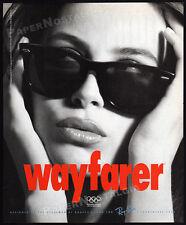 RAY-BAN WAYFARER__Original 1992 print AD / advert promo__Sunglasses eyewear ad