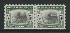 SOUTH AFRICA 1947-54 5/- WITH 'EXTENDED LEG OF 'A' R4/3 SG 122b MINT.