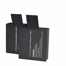 2x 900mAh 3.7V Battery Replacement For GoPro SJ4000 Sport Action Camera DVR