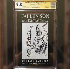 Fallen Son Death Of Captain America Blank Variant Bellman Sketch Signed CGC 9.8