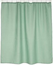 Waffle Weave Sage 100% fabric shower curtain w/metal grommet 70x72 Color Sage