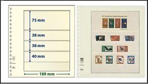 5 LINDNER 802403 T-Blanko-Blätter Blankoblätter 4 Taschen 75/38/38/40x189mm