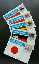 United Nation Japan Afghanistan Congo Iraq Zimbabwe Flag 1987 (maxicard)