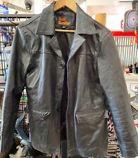 Vintage Soul Revolver Black Leather Jacket Size M