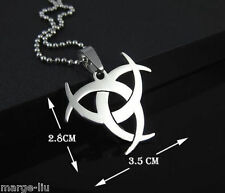 Resident EVIL BIOHAZARD AFTERLIFE Mens Plata Collar Colgante de Acero Inoxidable