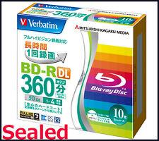 Sealed Pack** 10 Verbatim Bluray 50GB Dual Layer Inkjet Printable Blu ray BD-R