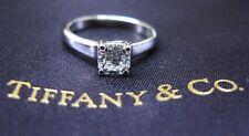 Tiffany & Co PLATINUM Lucida Diamond Engagement Ring H-VVS2 .58CT