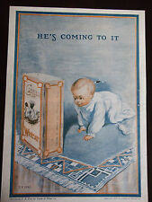1912 Cream Of Wheat Advertisement He's Coming To It By E. B. Bird Cute Baby